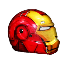 Marvel-Iron Man- Motorcycle-Custom-Paint-Motorcycle-Superhero-Helmet