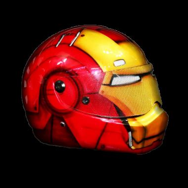 Marvel-Iron Man- Motorcycle-Custom-Paint-Motorcycle-Superhero-Helmet