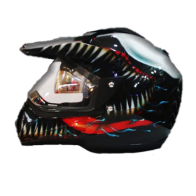 Marvel-Venom-Full-Face-Motocross-Custom-Painted-Safe-Helmet