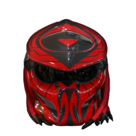 Predator-Red-Custom-Paint-Full-Face-Motorcycle-Helmet-Riders