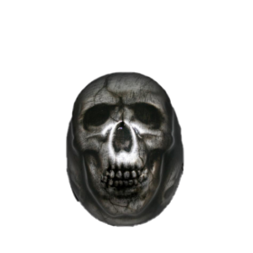 Skull-black-Metal-Safe-Motorcycle-Riders-Helmet
