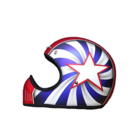 Vintage-American-Star-Blue-Red-White-Motorcycle-Helmet-Riders